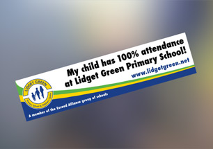 Lidget Green Primary Car Sticker