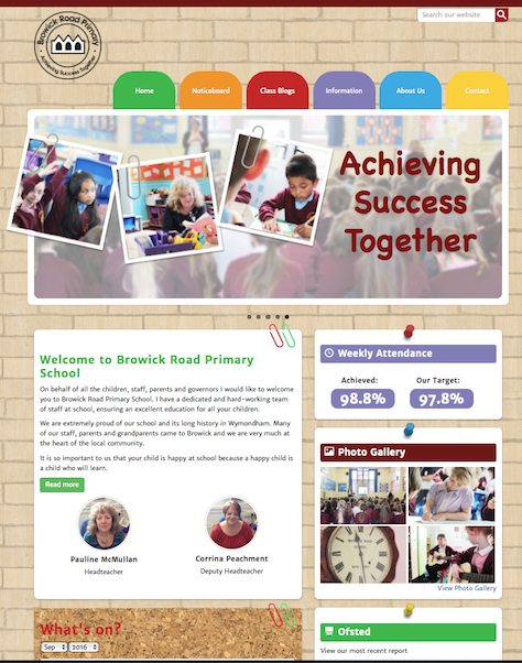 Browick Road Primary School Website Screenshot