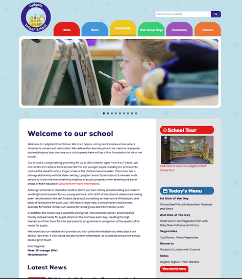 Lydgate Infant Website Screenshot