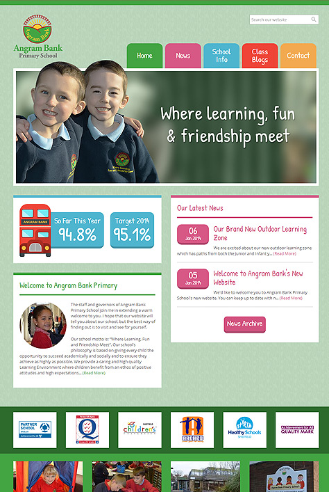 Angram Bank Primary School Website Screenshot