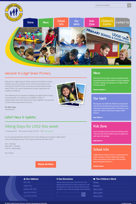 Lidget Green Primary School Website Screenshot