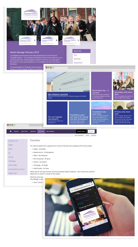 Mobile-friendly, great-looking websites for Academies and Trust Schools